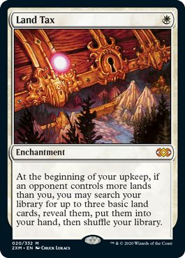 Land Tax Double Masters Reprints for Commander