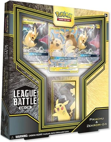 League Battle Deck Featuring Pikachu Zekrom-GX Pokemon Cards Gift Guide