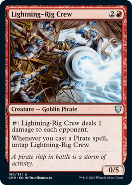 Lightning-Rig Crew Commander Legends Draft Archetypes