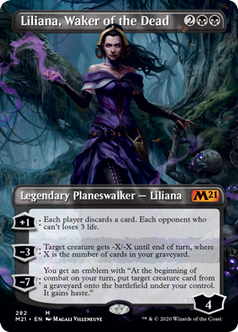 Liliana Waker of the Dead Borderless Core 2021 Collector Booster