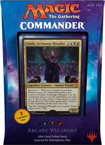 List of All Commander Precons 2017 Arcane Wizardry Wizards Tribal