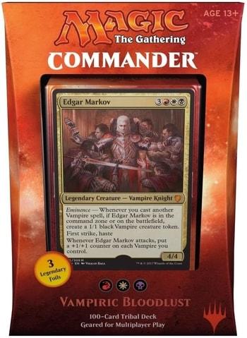Commander Precon 2017 Vampiric Bloodlust Vampire Tribal