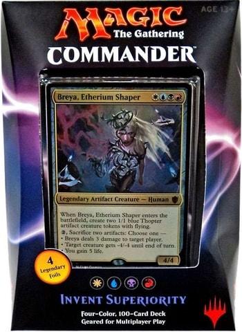 List of All Commander Precons Invent Superiority Breya