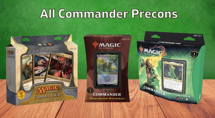 List of All Commander Precons MTG Series Decks Banner