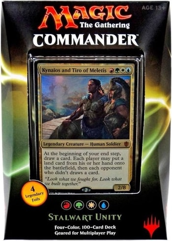 List of All Commander Precons Stalwart Unity