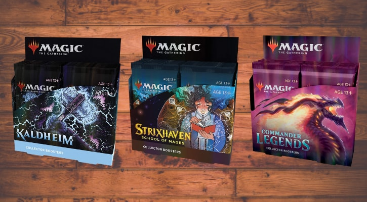 List of All MTG Collector Booster Boxes Banner