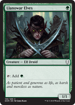 LLanowar Elves Dominaria Draft