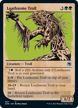 Loathsome Troll MTG DND Rulebook Card List