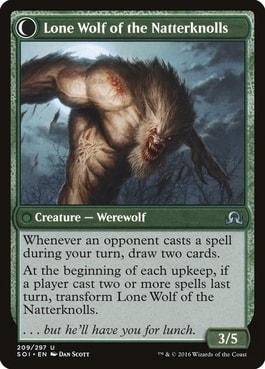Lone Wolf of the Natterknolls Best MTG Werewolves