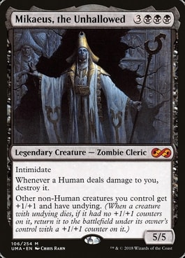 MIkaeus the Unhallowed Zombie Commander Tribal