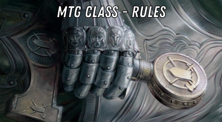 MTG Class Cards Rules Explained Banner