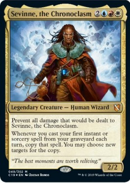 Sevinne the Chronoclasm Best White-Red-Blue Commanders