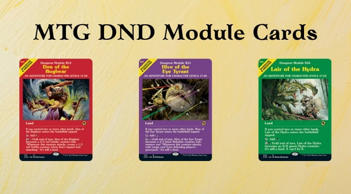 MTG DND Module Cards List Banner