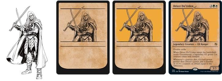 MTG DND Rulebook Card Style Design