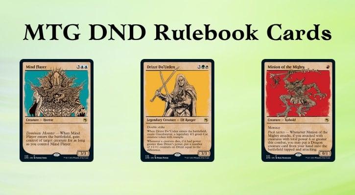 MTG DND Rulebook Cards Banner