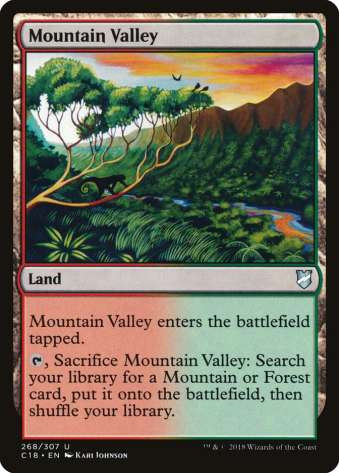 MTG slow fetch land mountain valley