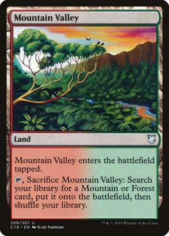 MTG slow fetch land mountain valley