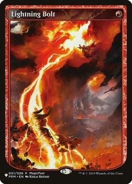 Magic Fest Promo Lightning Bolt