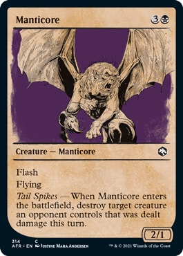 Manticore List of DND Rulebook MTG Cards