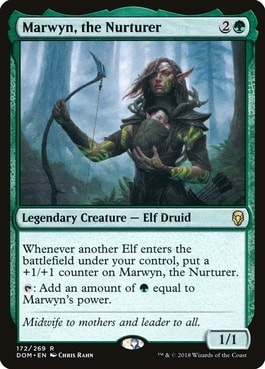 Marwyn, the Nurturer EDH Elf Tribal
