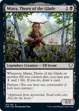 Miara Thorn of the Glade Commander Legends Elf Tribal