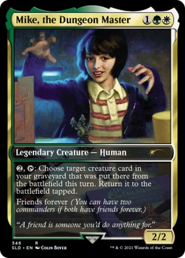 Mike, the Dungeon Master Stranger Things Magic Cards