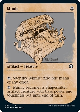 Mimic Where to Get DND Rulebook MTG Cards
