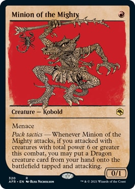 Minion of the Mighty List of DND Rulebook MTG Cards