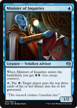 Minister of Inquiries How to Sideboard in Draft