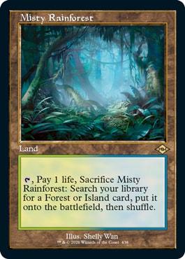 Misty Rainforest Old Frame Fetch Lands Modern Horizons 2