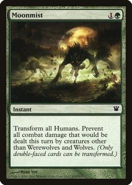 Moonmist Best Werewolf Tribal Cards MTG