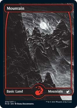 Mountain Eternal Night Basic Lands