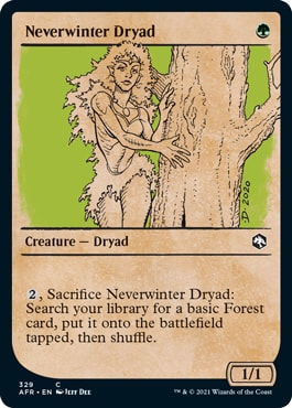 Neverwinter Dryad List of DND Rulebook MTG Cards