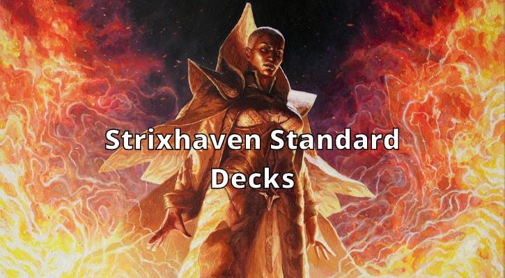 New Standard Decks Decklists Strixhaven MTG MTGA Arena Banner