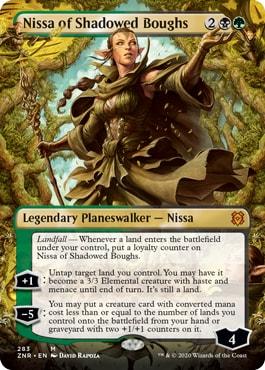 Nissa of Shadowed Boughs Zendikar Rising Collector Booster Contents