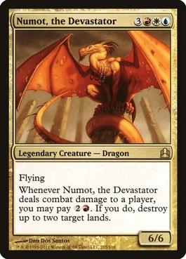Numot, the Devastator White Red Blue Commanders