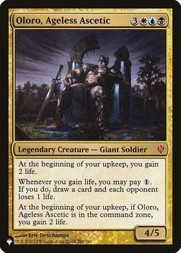 Oloro Ageless Ascetic Lifegain Commander