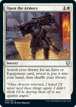 Open the Armory Commander Legends All Cards