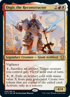 Osgir, the Reconstructor Lorehold Legacies Commander 2021 Precon