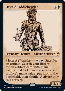 Oswald Fiddlebender MTG DND Rulebook Cards