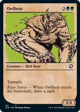 Owlbear Where to Get DND Rulebook MTG Cards