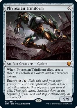 Phyrexian Triniform Commander Legends Spoilers