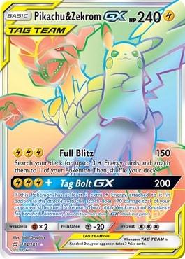 Pikachu Zekrom GX Team Tag Best Pokemon Booster Box