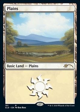 Plains Bob Ross Basic Lands Arena
