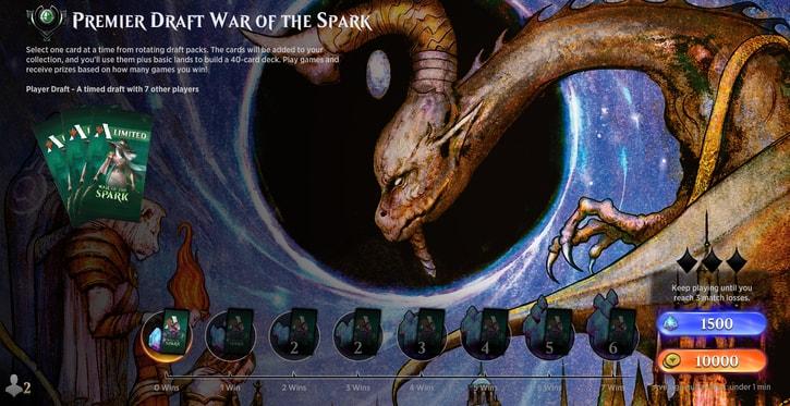 premier Draft war of the Spark