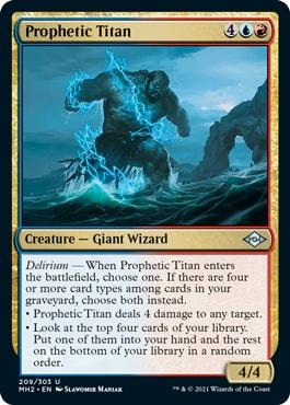 Prophetic Titan Modern Horizons 2 Draft Guide