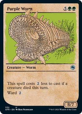 Purple Worm List of DND Rulebook MTG Cards