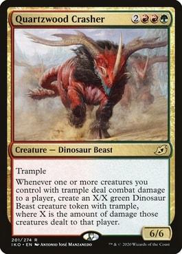 Quartzwood Crasher Best Dinosaurs MTG