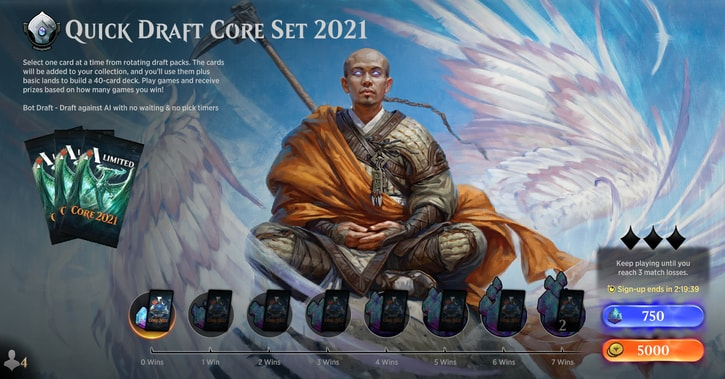 quick draft core set 2021