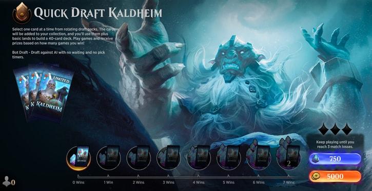 quick draft kaldheim